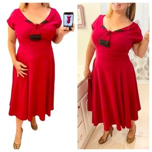 Stop Staring Red Retro Pin Up Dress